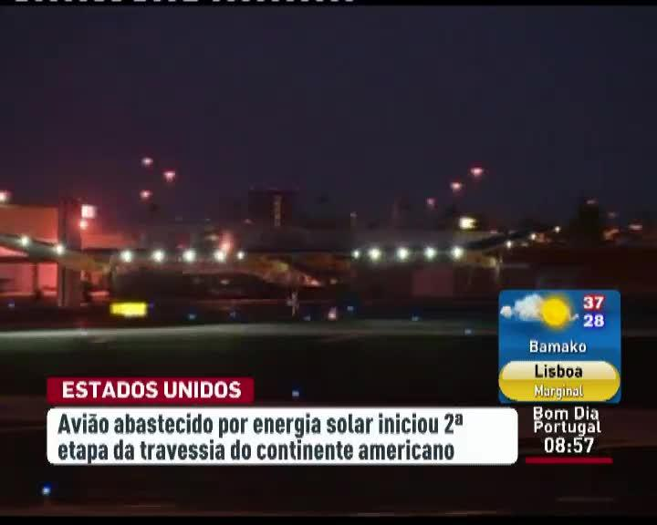Avi�o solar prossegue travessia do Continente Americano