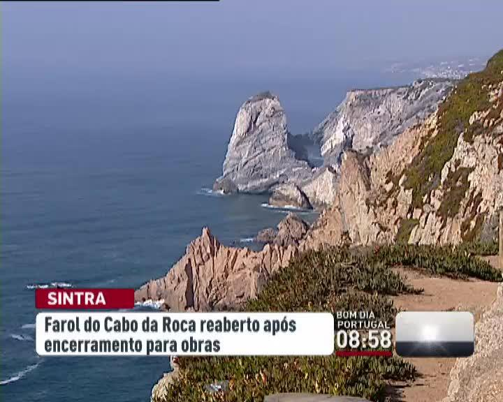 Recome�am as visitas semanais ao farol do Cabo da Roca