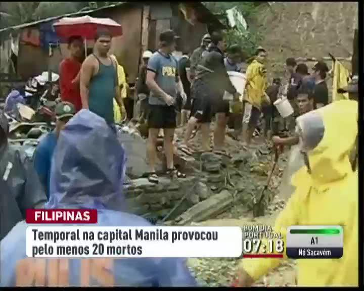 Temporal faz 20 mortos nas Filipinas