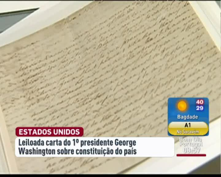 Carta de George Washington vai a leil�o