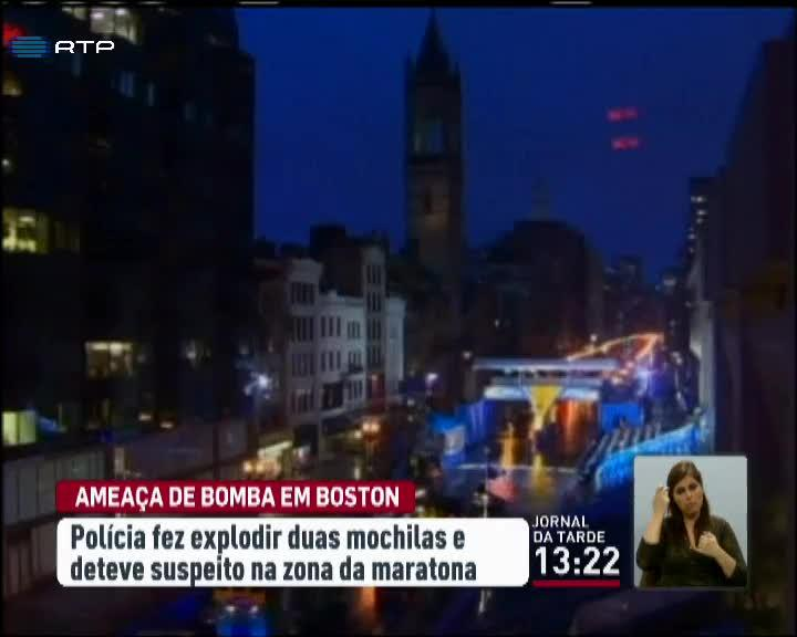 Mundo - Amea�a de Bomba em Boston no anivers�rio do atentado