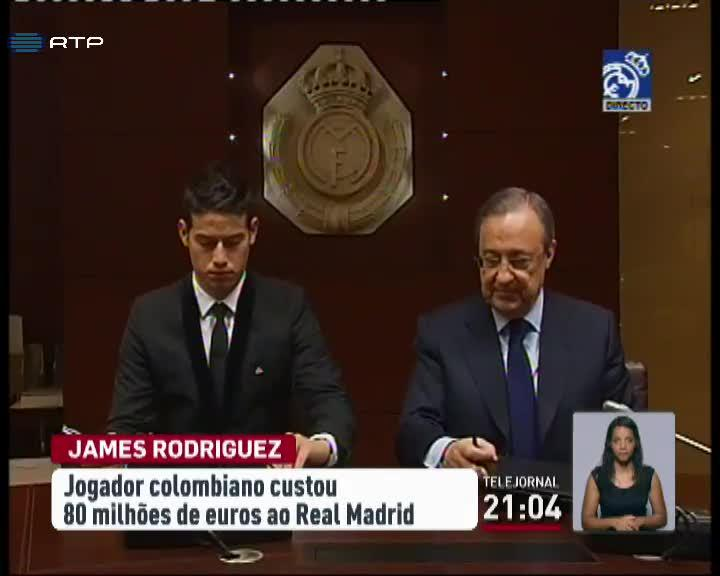 Futebol Internacional - James Rodrigues j� assinou pelo Real Madrid