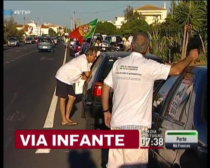 Pa�s - Protesto na Via do Infante contra as portagens