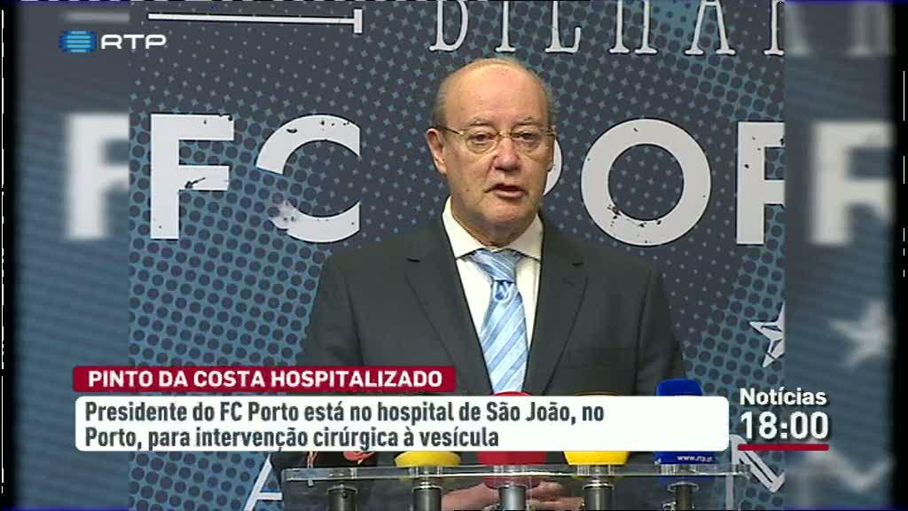 Pinto da Costa internado no Hospital de S�o Jo�o