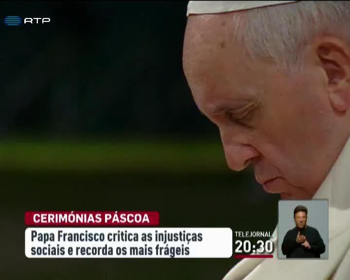 Mundo - Papa Francisco condenou as injusti�as da sociedade