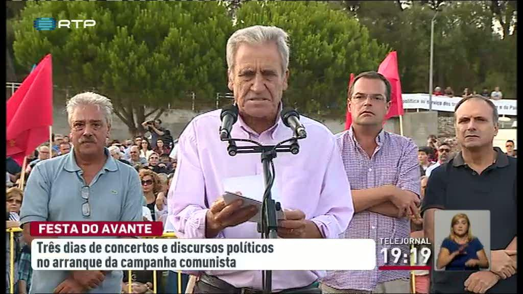 Campanha comunista para as legislativas arranca com Festa do Avante